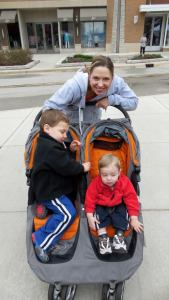 My tired boys and I at March for Babies 2013